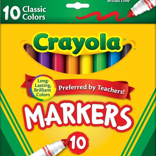 Markers, Crayola 10 pack, Thick