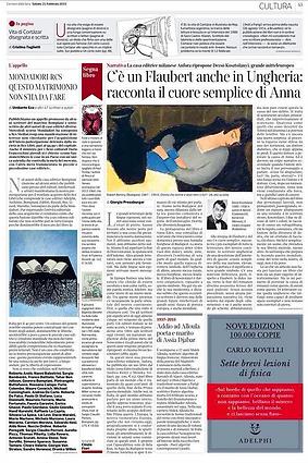 Anna Edes sul Corriere della Sera