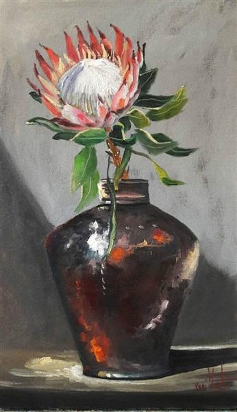 Protea in a vase
