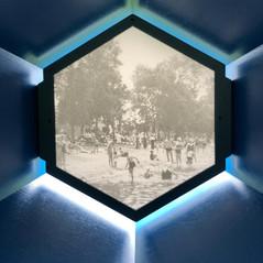 Lunette sur le terrain du Musée de Lachine