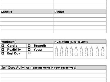 Free Printable: Daily Health and Fitness Tracker