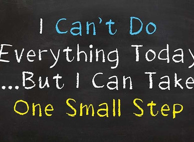 The Awesome Power of Small Goals