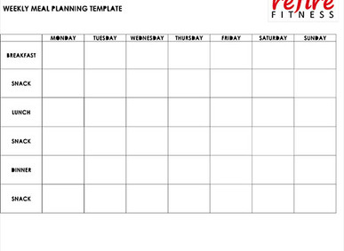 Free Printable Weekly Meal Planning Template