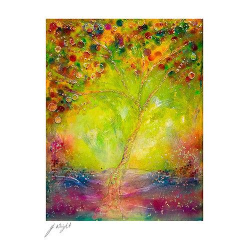 Rainbow Tree Greetings Card