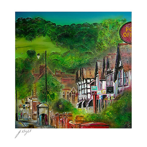 King Street Whalley Greetings Card