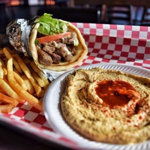 Gyro Sandwich with Hummus