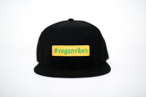 'Vegan Vibes' cap in black