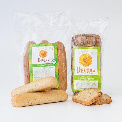Dupla - Baguete + Pão Ervas Finas