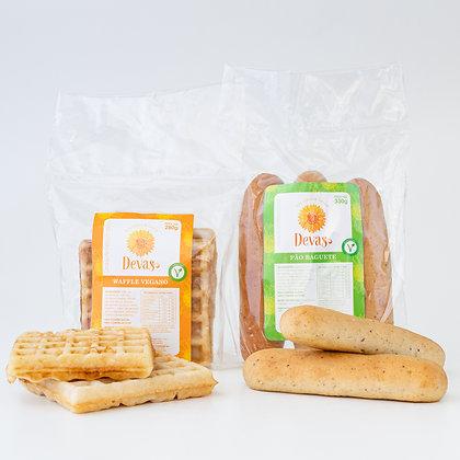 Dupla VEG - Waffle + Baguete