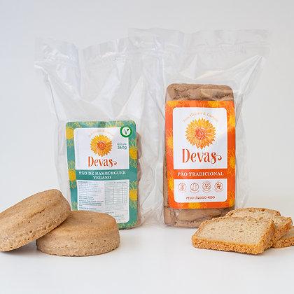 Dupla Pão de Hambúrguer + Pão Tradicional