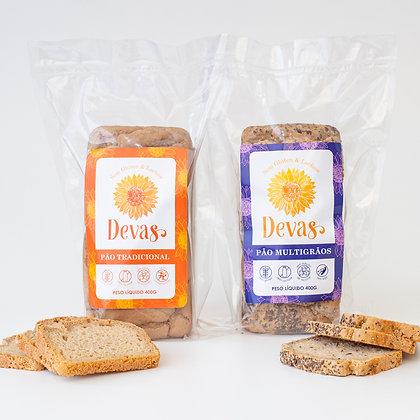 Dupla Pão Tradicional + Pão Multigrãos