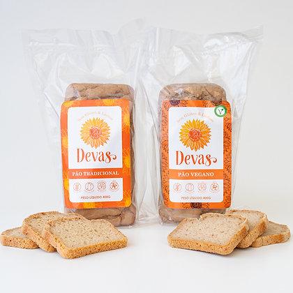 Dupla Pão Tradicional+ Pão Vegano