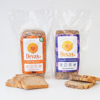 Dupla Pão Vegano + Pão Multigrãos