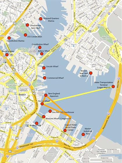 Boston Water Taxi Map