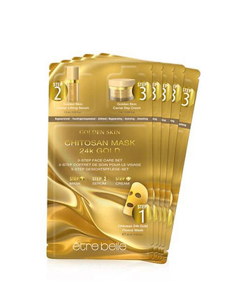 Golden Skin 24K Gold Maske 3-Step Gesichtspflegeset
