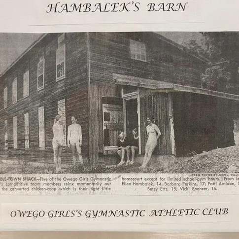 First Gym in a barn on Main St.