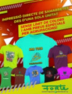 grafiques forte samarretes personalitzad