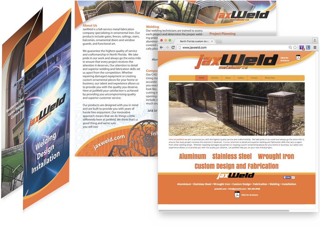 Jaxweld Brochure and Website