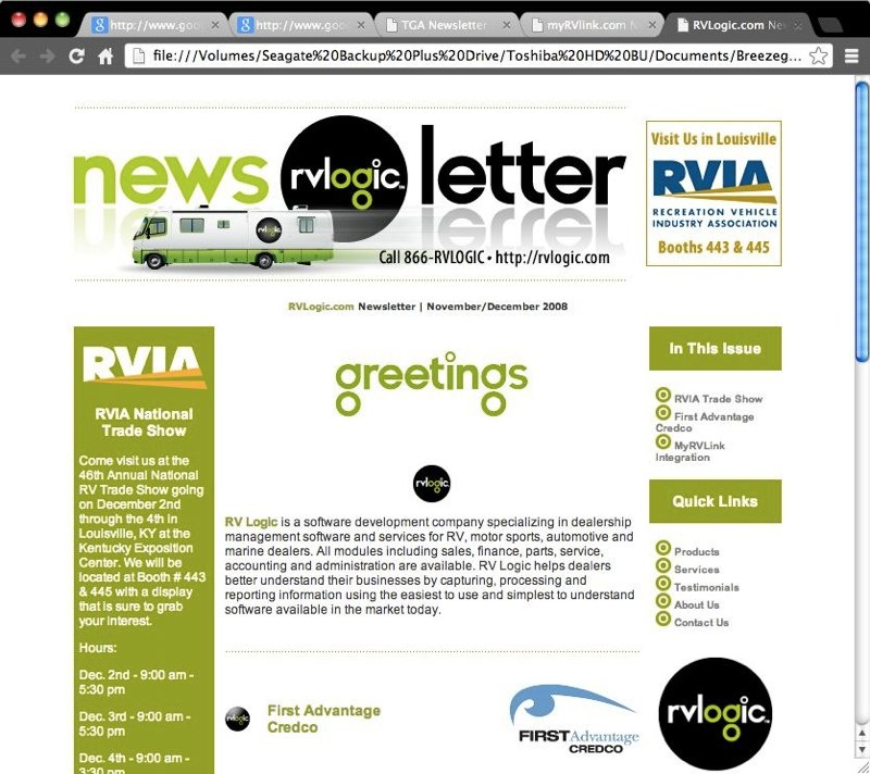 RV Logic Online Newsletter