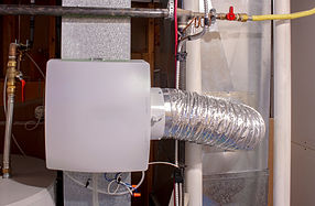 A home humidifier attached to the return