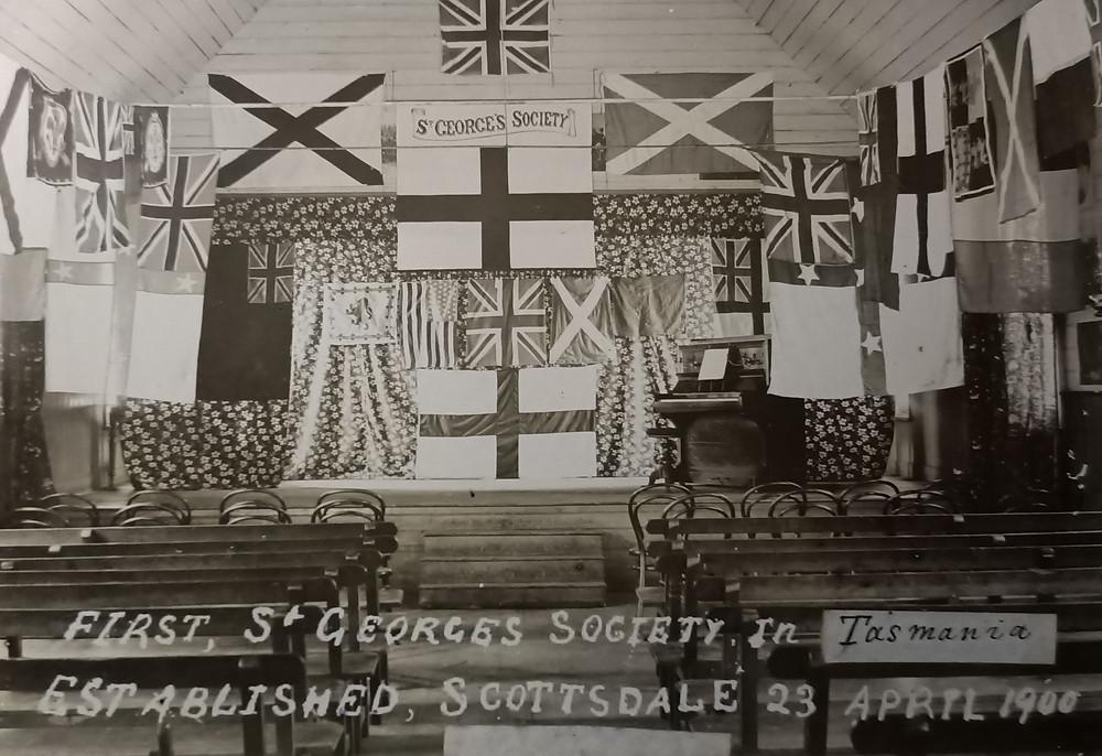 Royal Society of St George meeting, 20 June 1900, Scottsdale, Tasmania