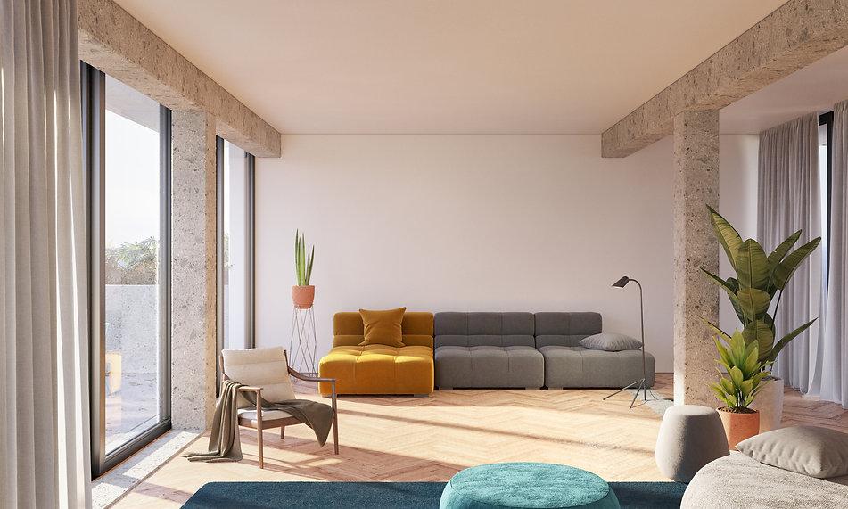 Nube architetture Orange room vista 1.jp