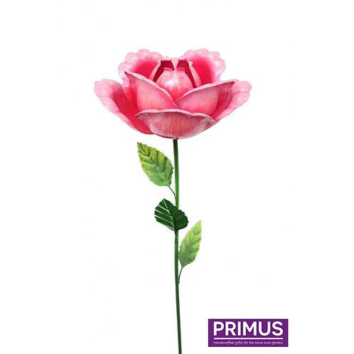 83cm Medium Metal Rose Garden Stake Pink