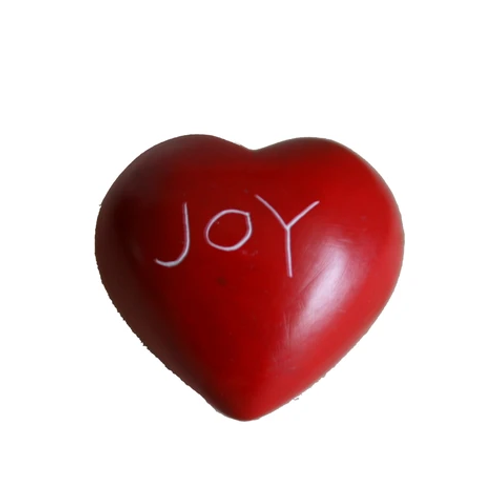 Red Joy Round Heart - 5 cm