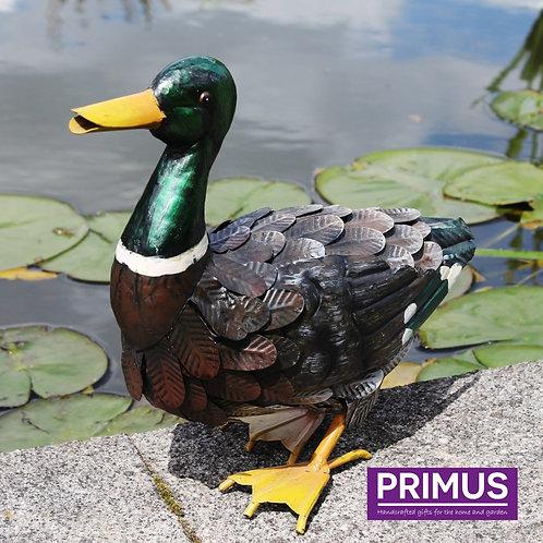 Metal Mallard Duck