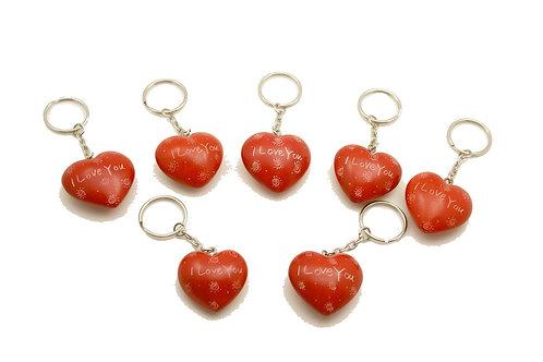 I Love You Heart Keyrings 3 cm