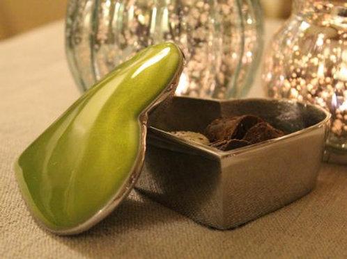 Lime Heart Trinket Box