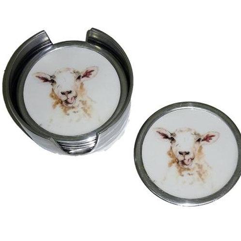 Sheep Coasters Set of 6