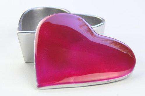 Pink Heart Trinket Box