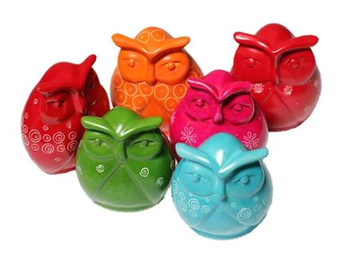 Mara Coloured Owls - Small