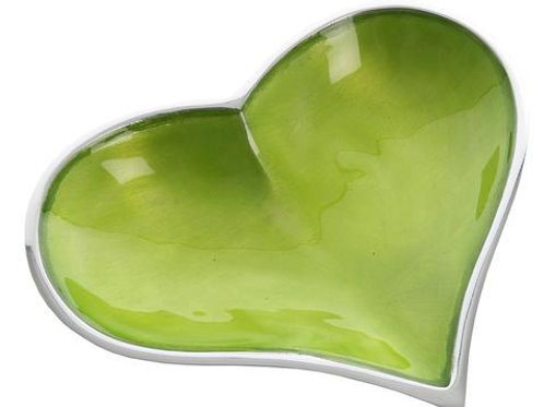 Lime Heart Dish Large