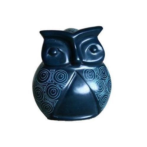 Peacock Blue Signum Owl 10cm