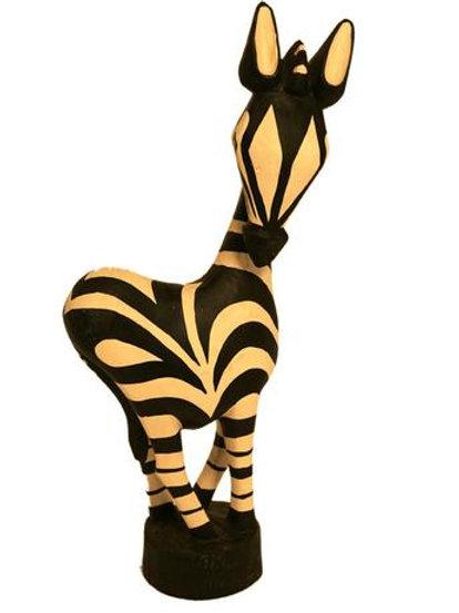"Painted Wooden Zebra 16"""