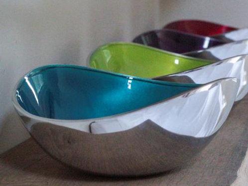 Aqua Oval Bowl Large