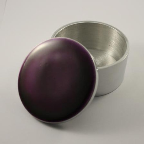 Purple  Circular Trinket Box