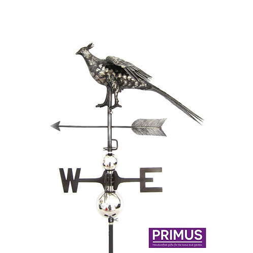 Pheasant Crowing Weathervane with Garden Stake