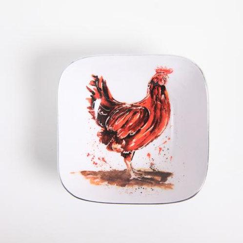 Henrietta the Chicken Square Bowl