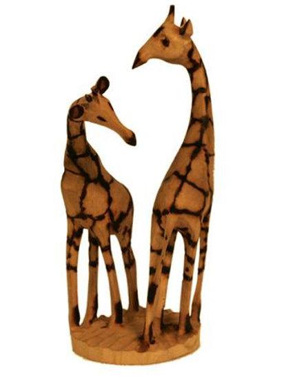 Jacaranda Wooden Giraffe Pair 12