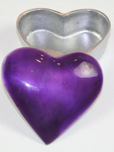 Purple  Heart Trinket Box