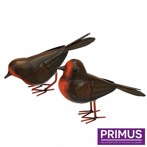 Metal Robins - Set of 2