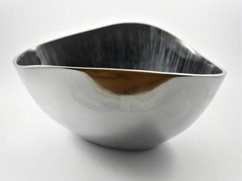 Brushed Black Oval Bowl Large