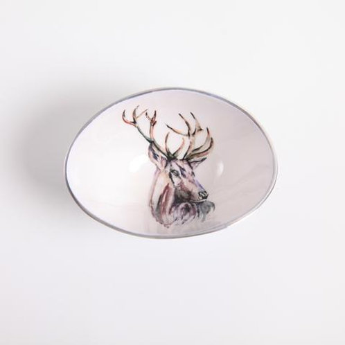 Stag Oval Bowl Small
