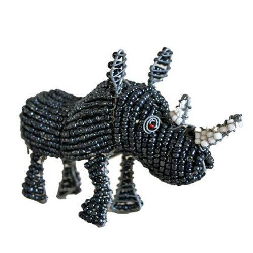 Beaded Grey Rhino