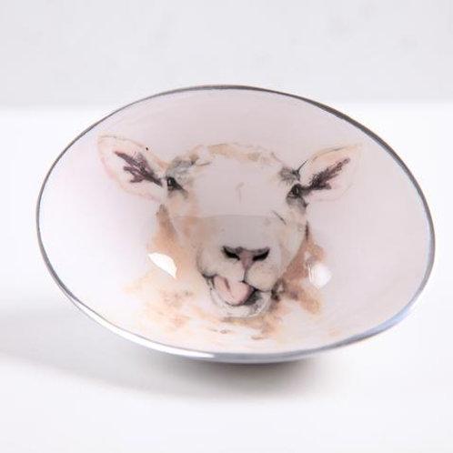 Sheep Oval Bowl Small