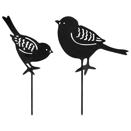 Set Of 2 Small Birds in Black