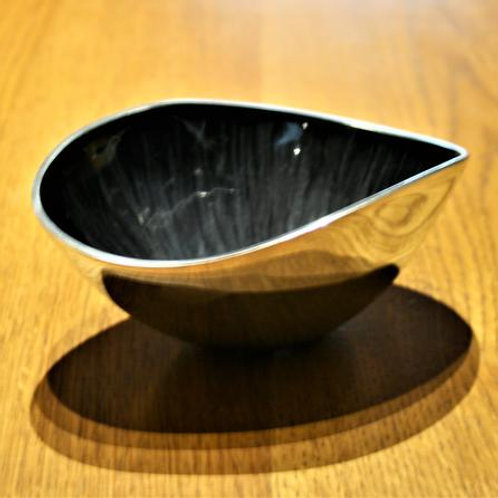 Brushed Black Oval Bowl Small
